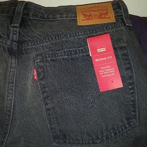Levi's Wedgie Fit Distressed Slevedge Jeans Sz 29